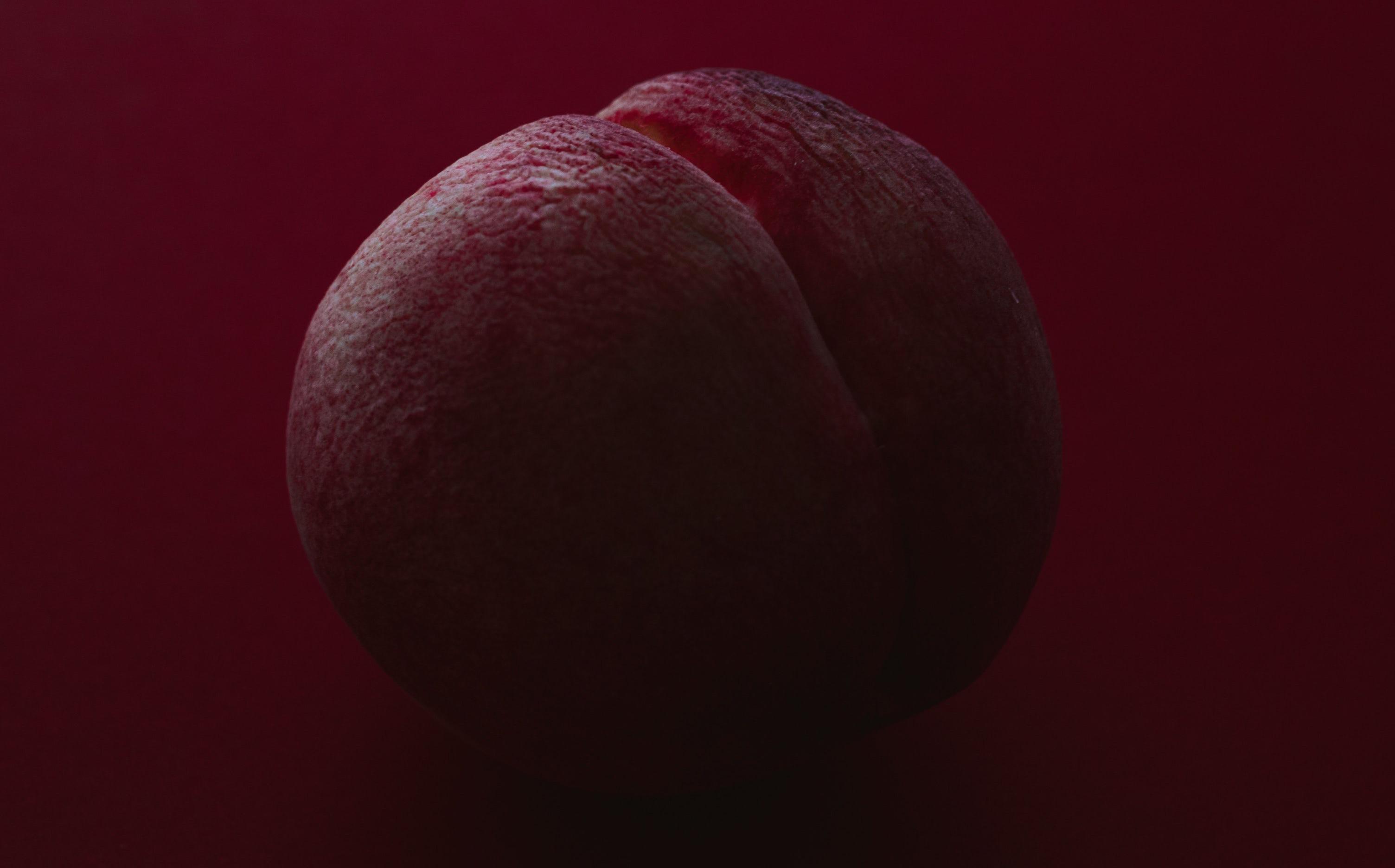 a red peach