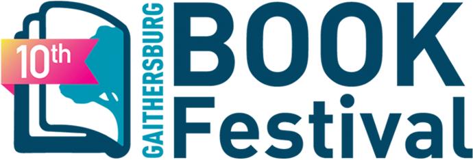 10th Gaithersburg Book Festival logo