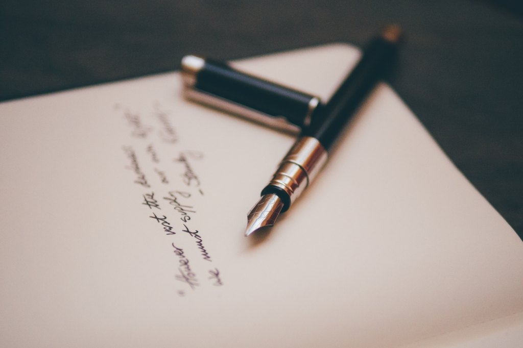 cover letter ink and pen