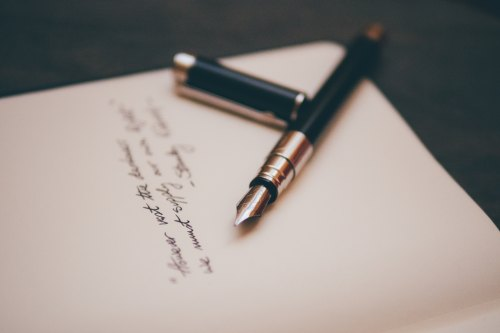 Letter and ink pen